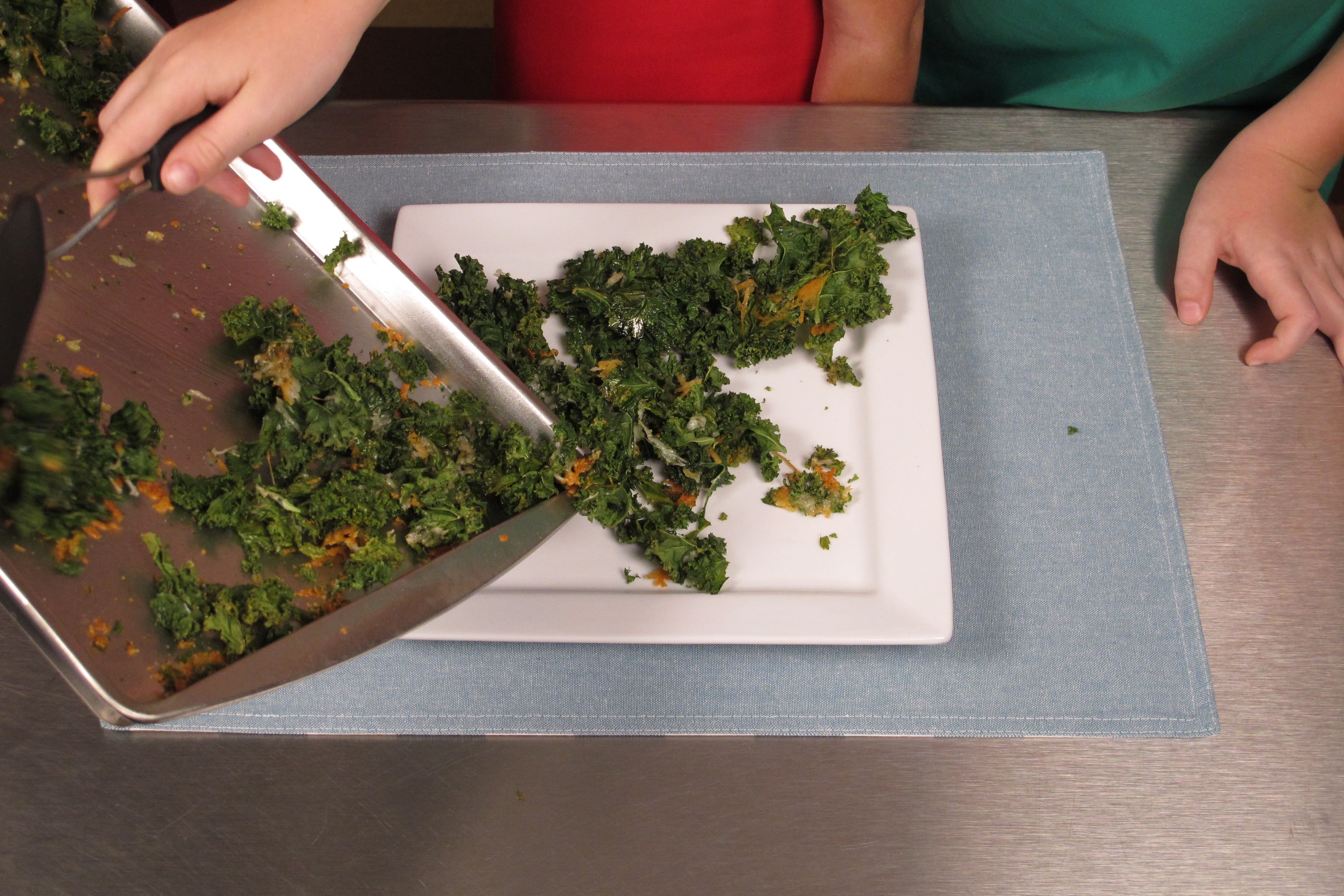 (continued) Bake at 400°F for 10–15 minutes or until kale is crisp and edges are brown but not burned.
